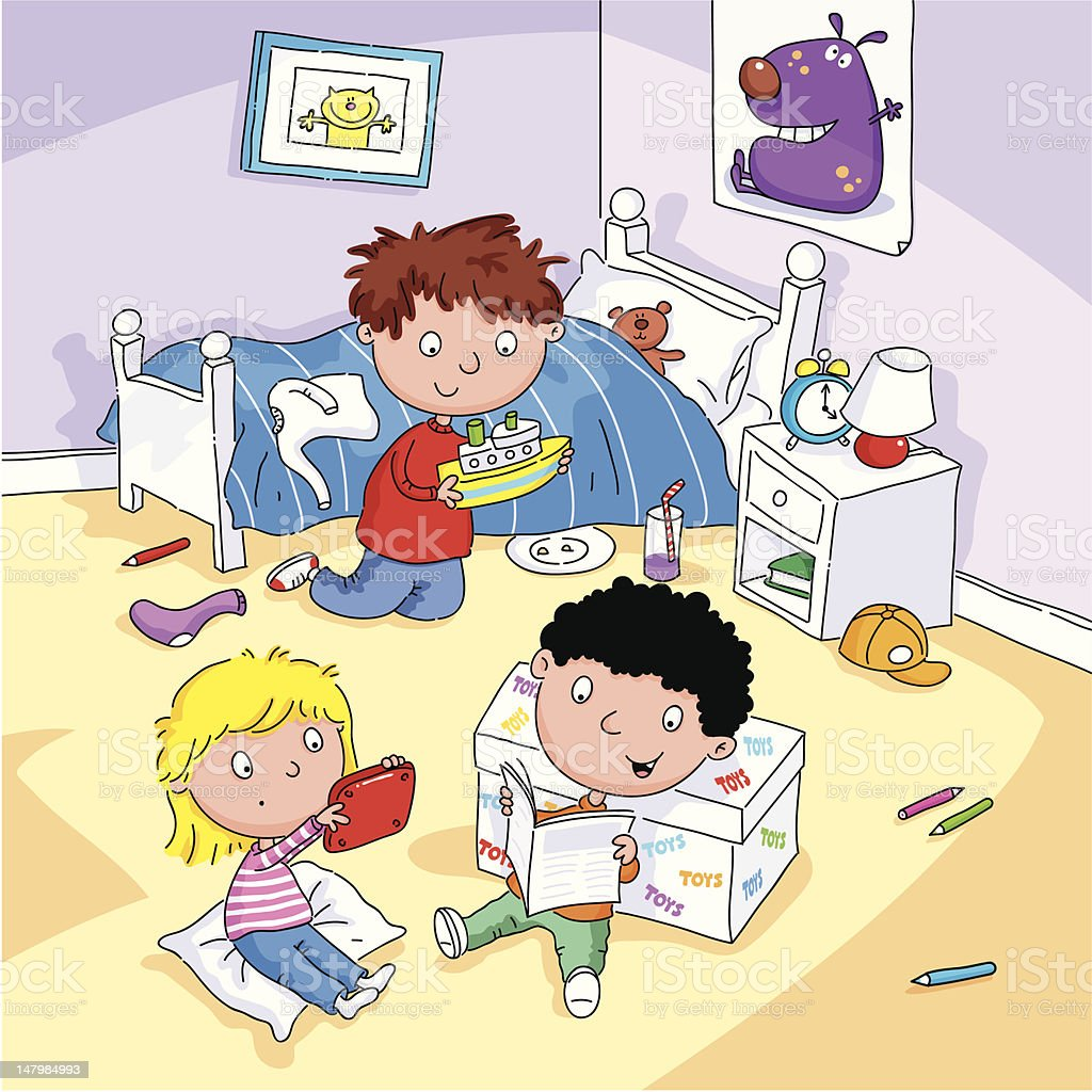 Royalty Free Messy Room Clip Art, Vector Images