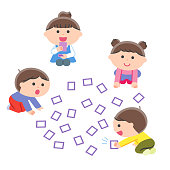 Children Playing in Carta (One Hundred People) / No Contours