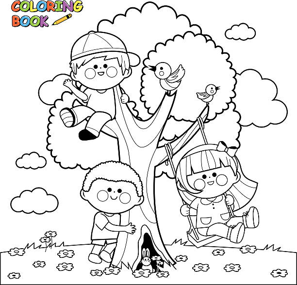 Royalty Free Coloring Pages Clip Art, Vector Images & Illustrations ...