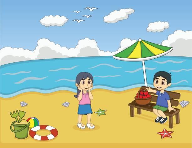 Royalty Free Beach Picnic Clip Art, Vector Images ...