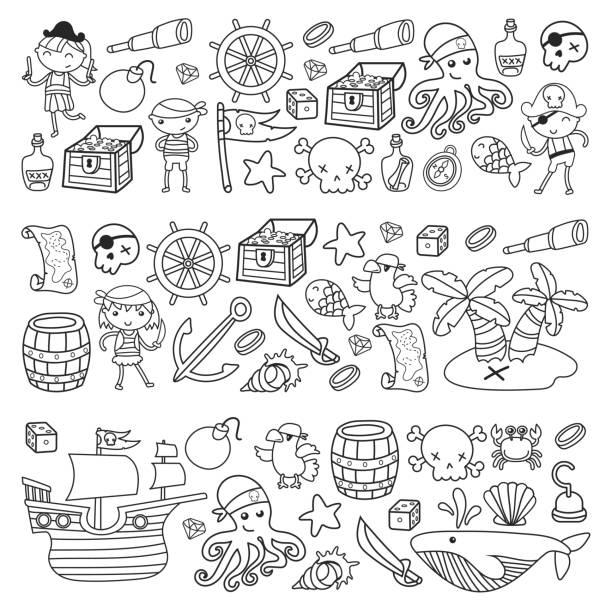 Vectores de Manualidades De Halloween De Los Niños y Illustraciones ...