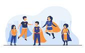 istock Children playing superhero characters 1254951512