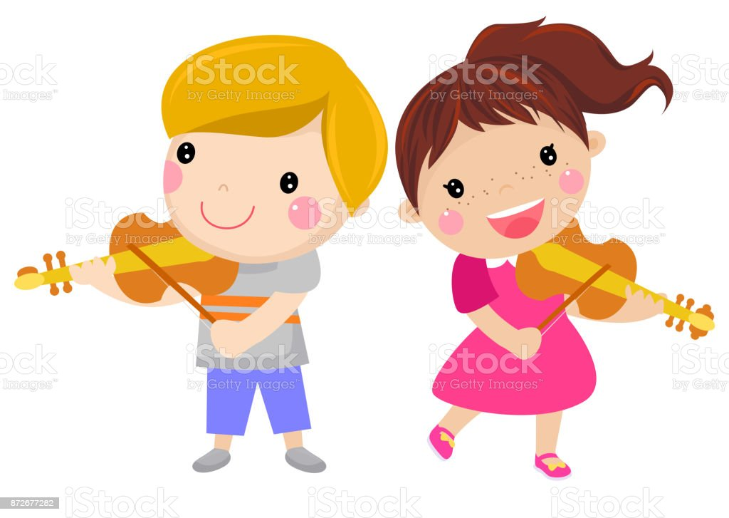 royalty free kids orchestra clip art vector images illustrations rh istockphoto com clipart orchestra instruments orchestra clip art images