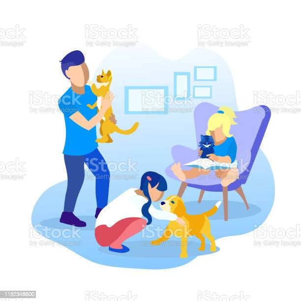 Children playing with pets cartoon illustration vector id1152348600?b=1&k=6&m=1152348600&s=612x612&h=twvnijhkeng epshcmwk4gpygszvqx0vj3jqljn5o10=