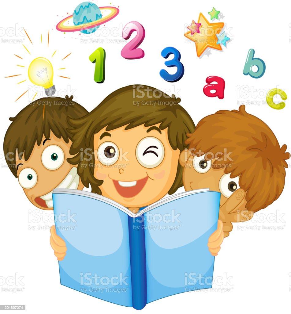 Enfants Lire Livre De Math Vecteurs Libres De Droits Et Plus