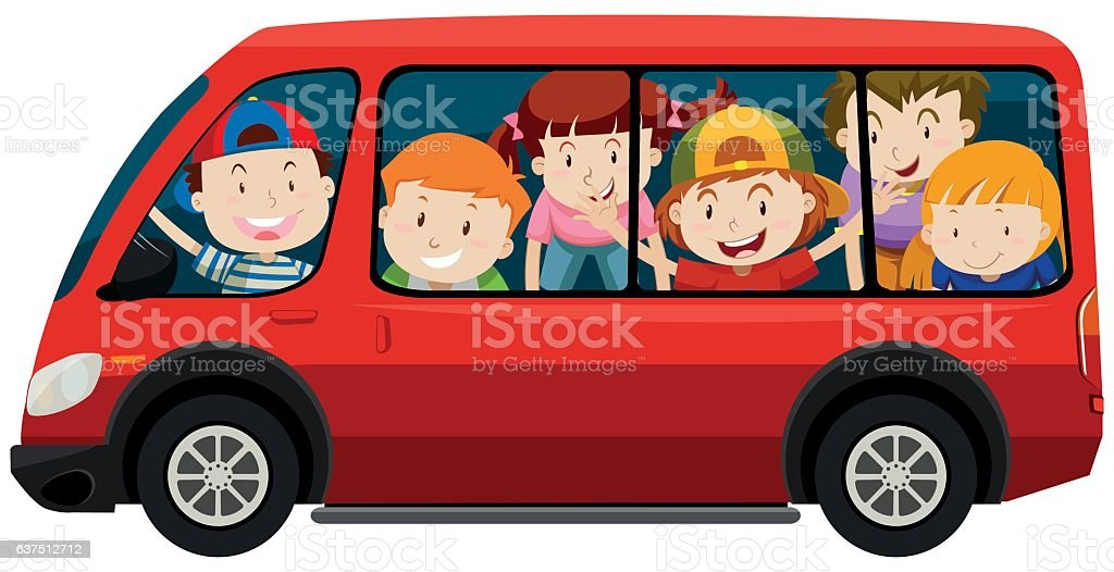 royalty free kids in van clip art vector images illustrations rh istockphoto com van clipart png van clipart png