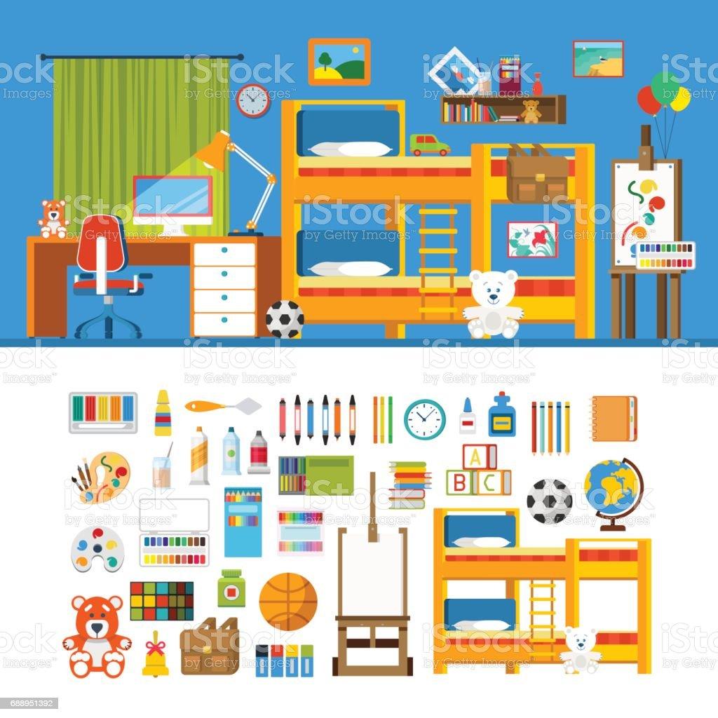 Accessoire Chambre D Enfant chambre denfant objet interior constructeur modèle maquette