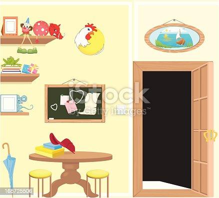 vector illustration of children room