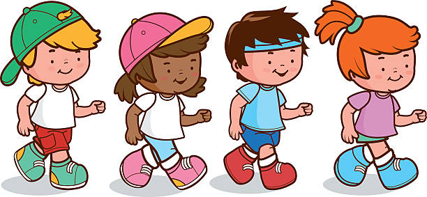 Best Asian Kids Run Race Illustrations, Royalty-Free ...