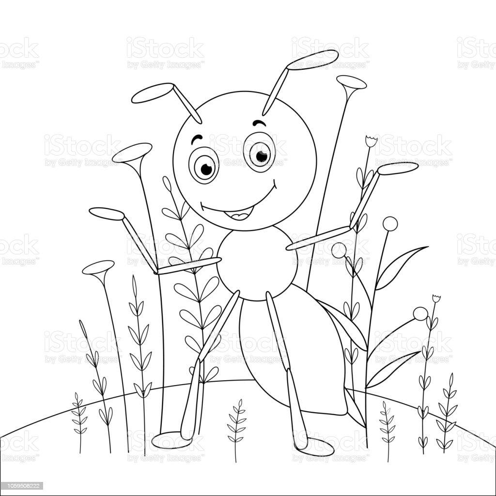 Ilustración De Los Niños S Libro Con Animales De Dibujos Animados