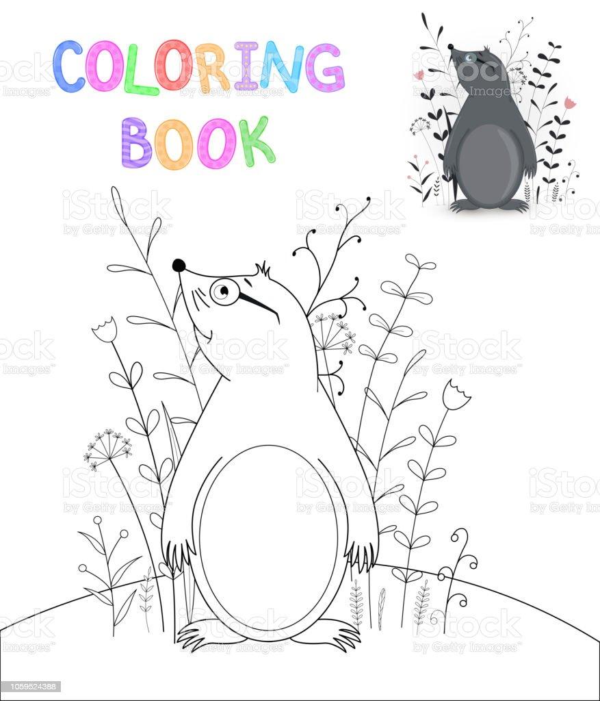 Boyama Kitabi Karikatur Hayvanlar Ile Cocuk S Okul Oncesi Cocuk