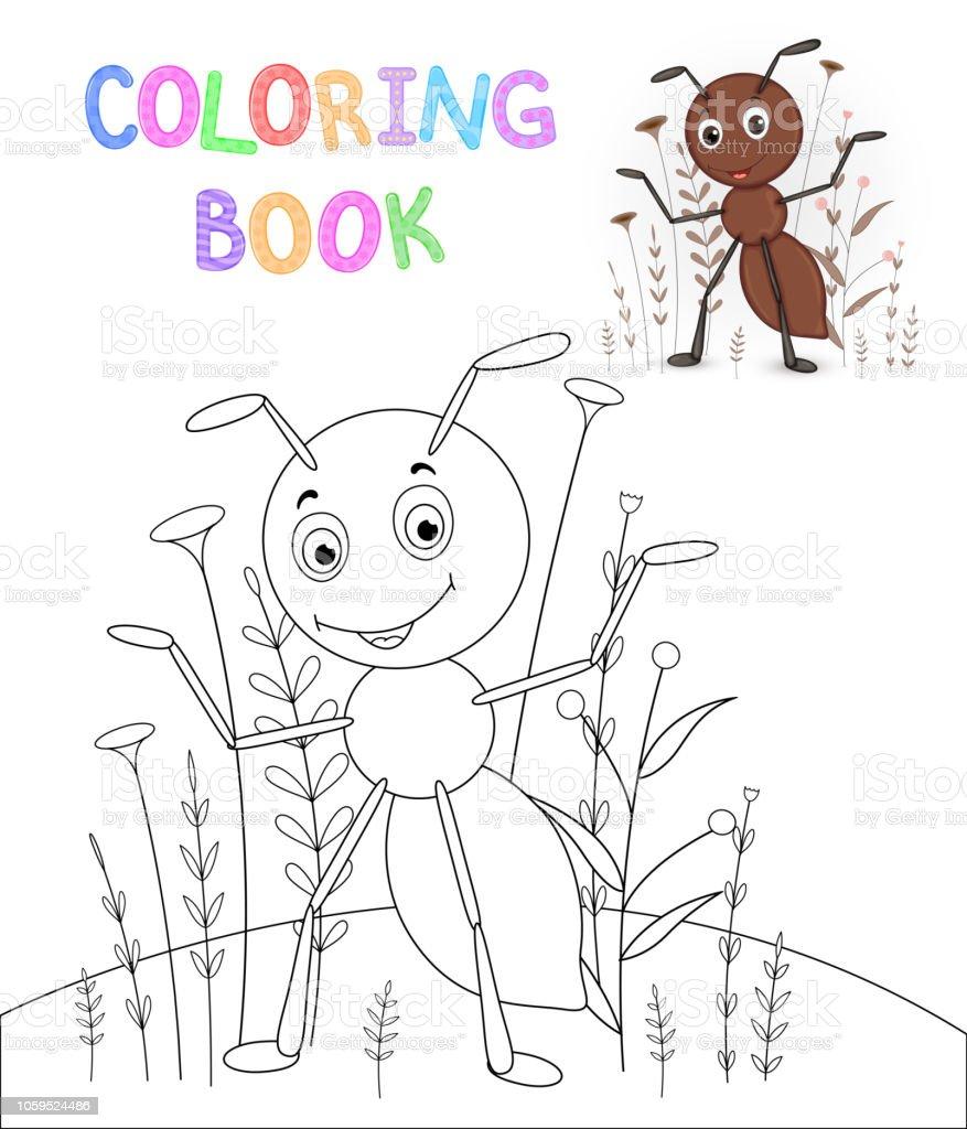 Vetores De Criancas S Colorir Livro Com Animais Dos Desenhos