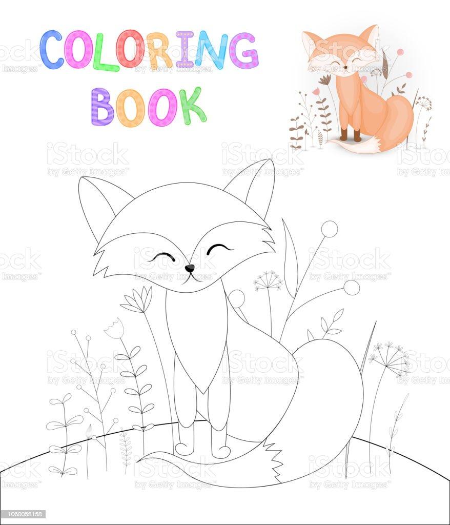 Boyama Kitabi Karikatur Hayvanlar Ile Cocuk S Egitim Okul Oncesi