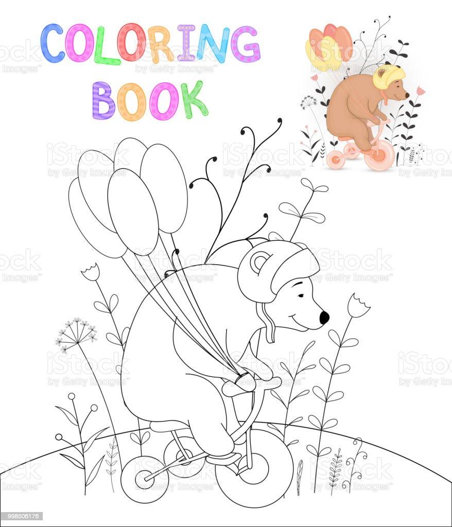 Ilustración de Los Niños S Libro Con Animales De Dibujos Animados ...