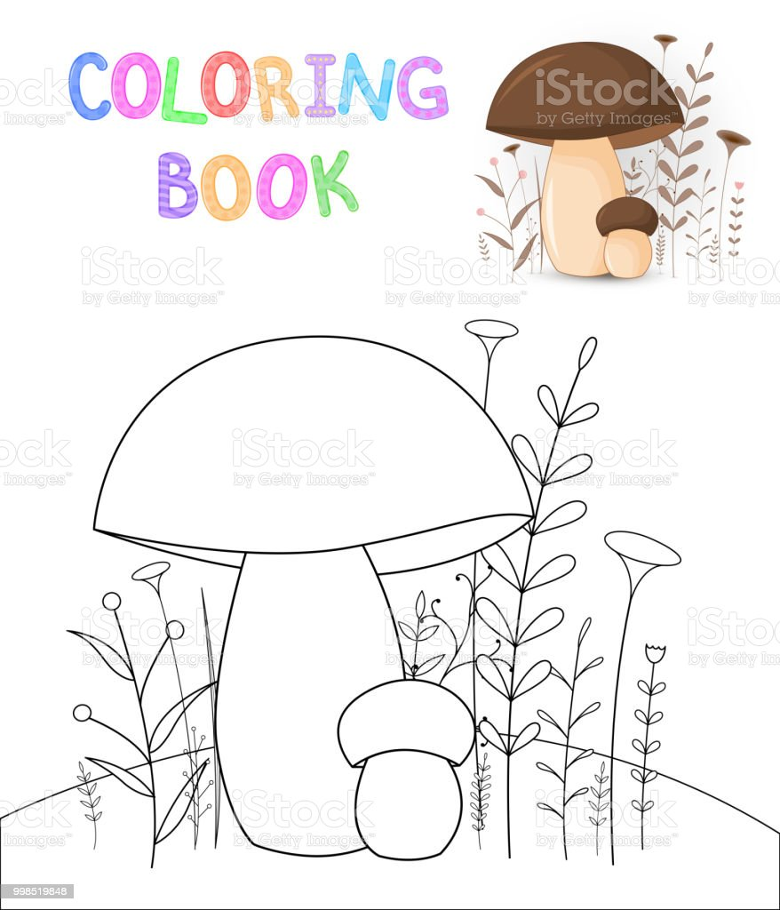 Children S Coloring Book With Cartoon Animals Educational Tasks For Preschool Cute Mushrooms Royalty
