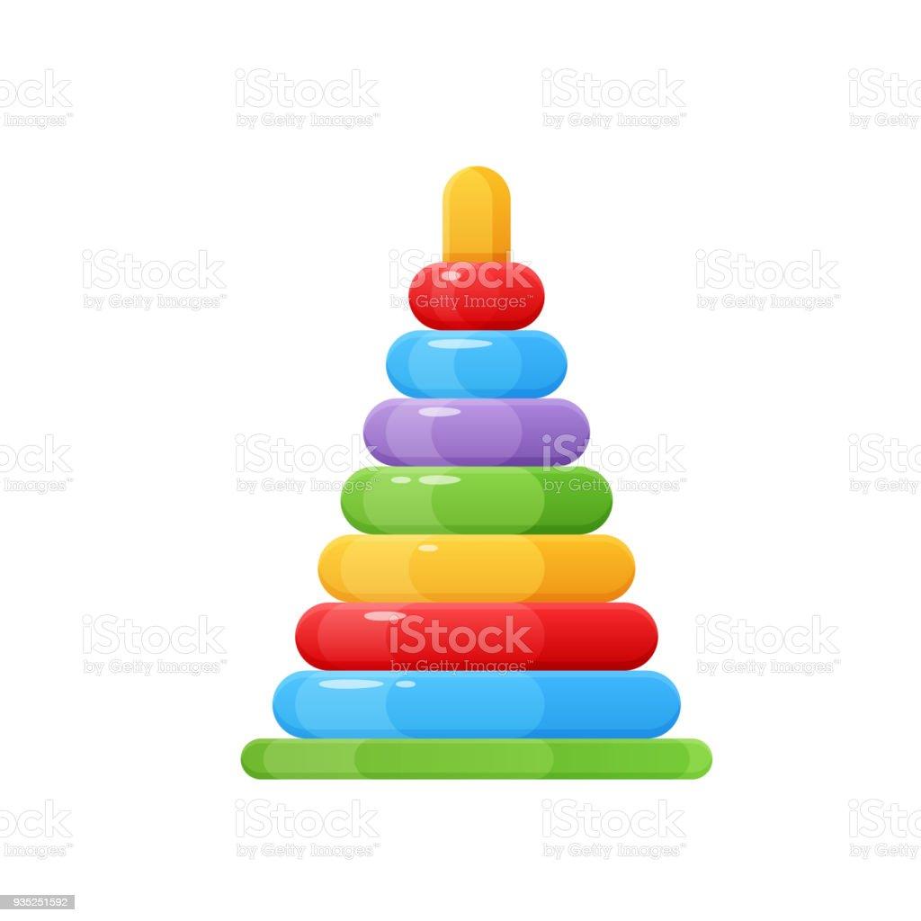子供のおもちゃやアクセサリー赤ちゃんピラミッドカラフルな面白いおもちゃ おもちゃのベクターアート素材や画像を多数ご用意 Istock