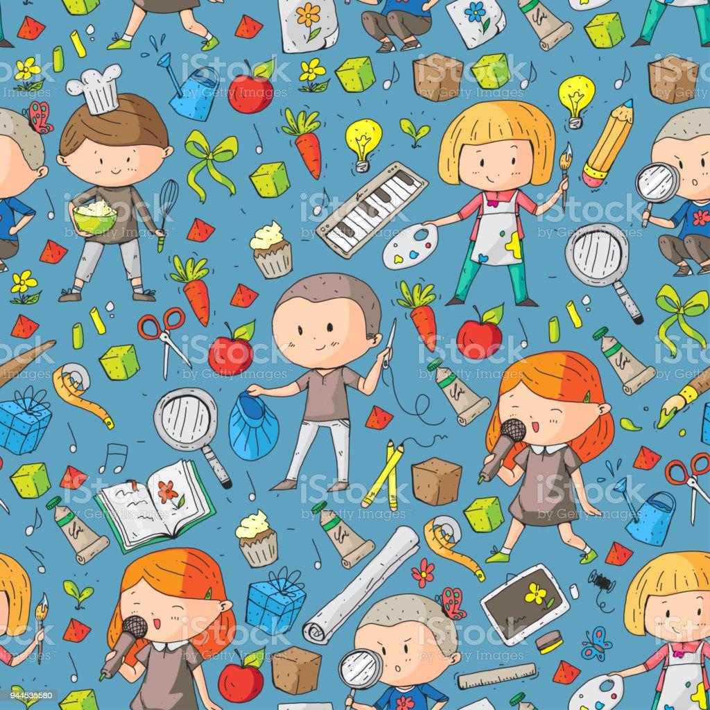Children School And Kindergarten Creativity And Education Music ...