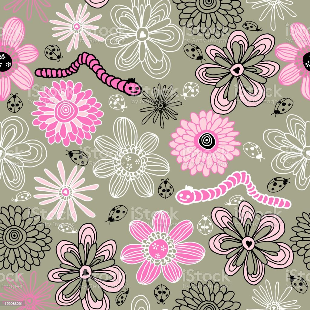 children seamless floral pattern royalty-free children seamless floral pattern stock vector art & more images of abstract