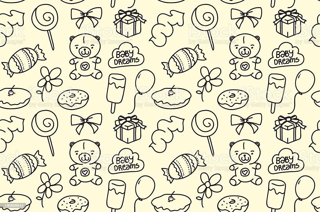 Ilustración de Textura Sin Fisuras De Los Niños Fiesta Temática ...
