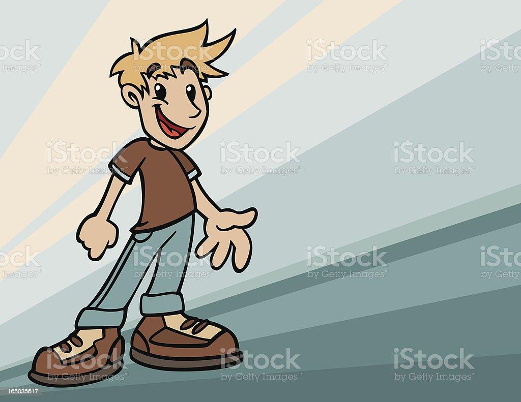 Children Series / Happy healthy boy royalty-free stock vector art