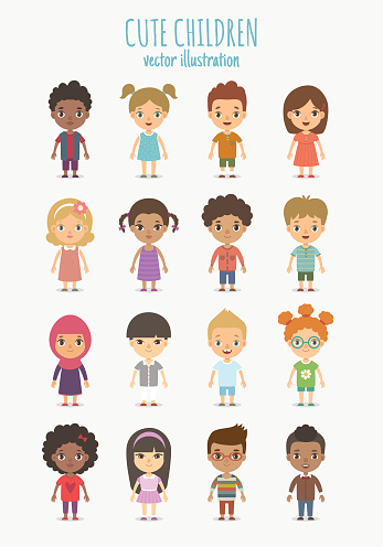 Children set clipart