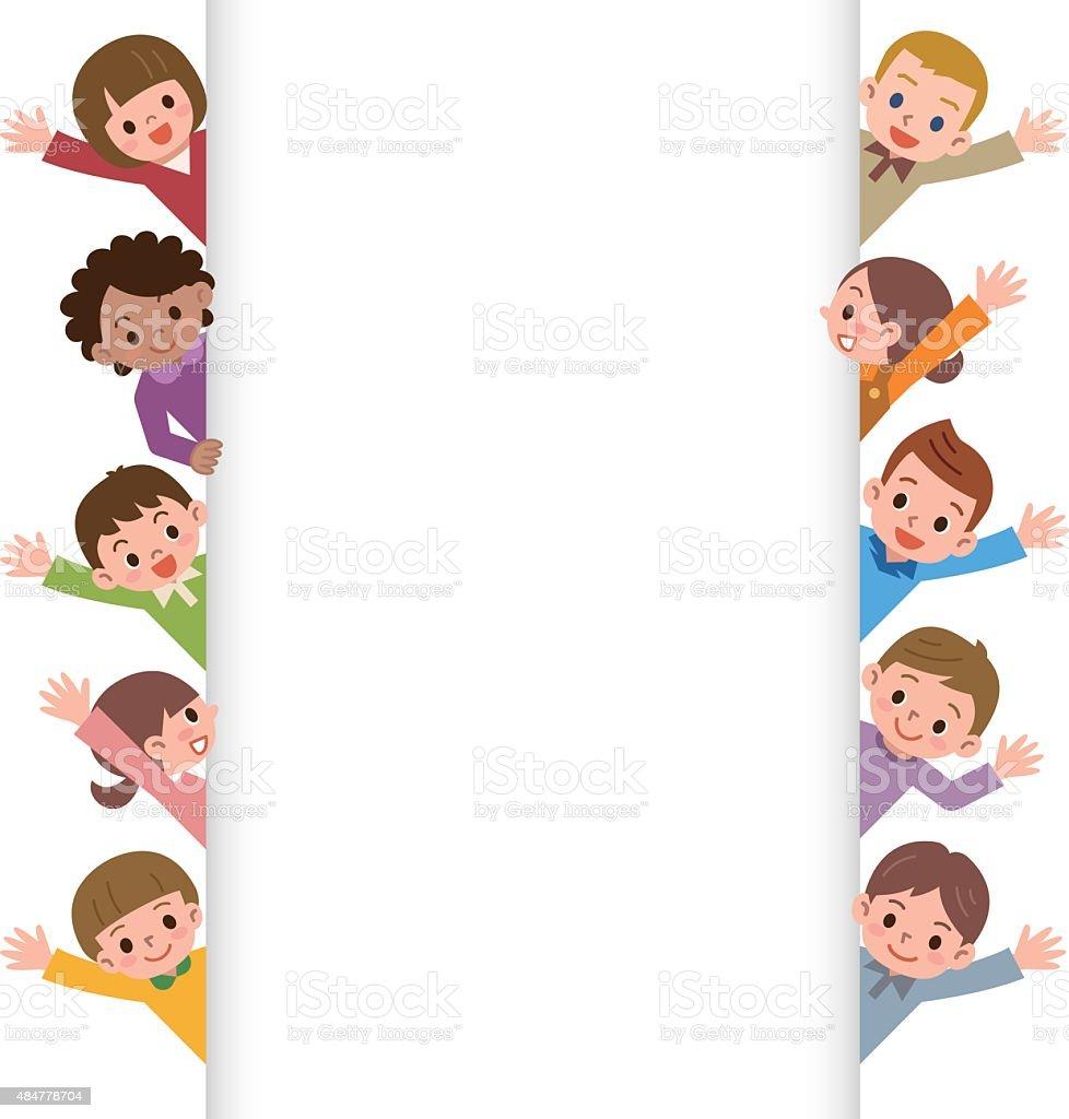 royalty free kid waving clip art vector images