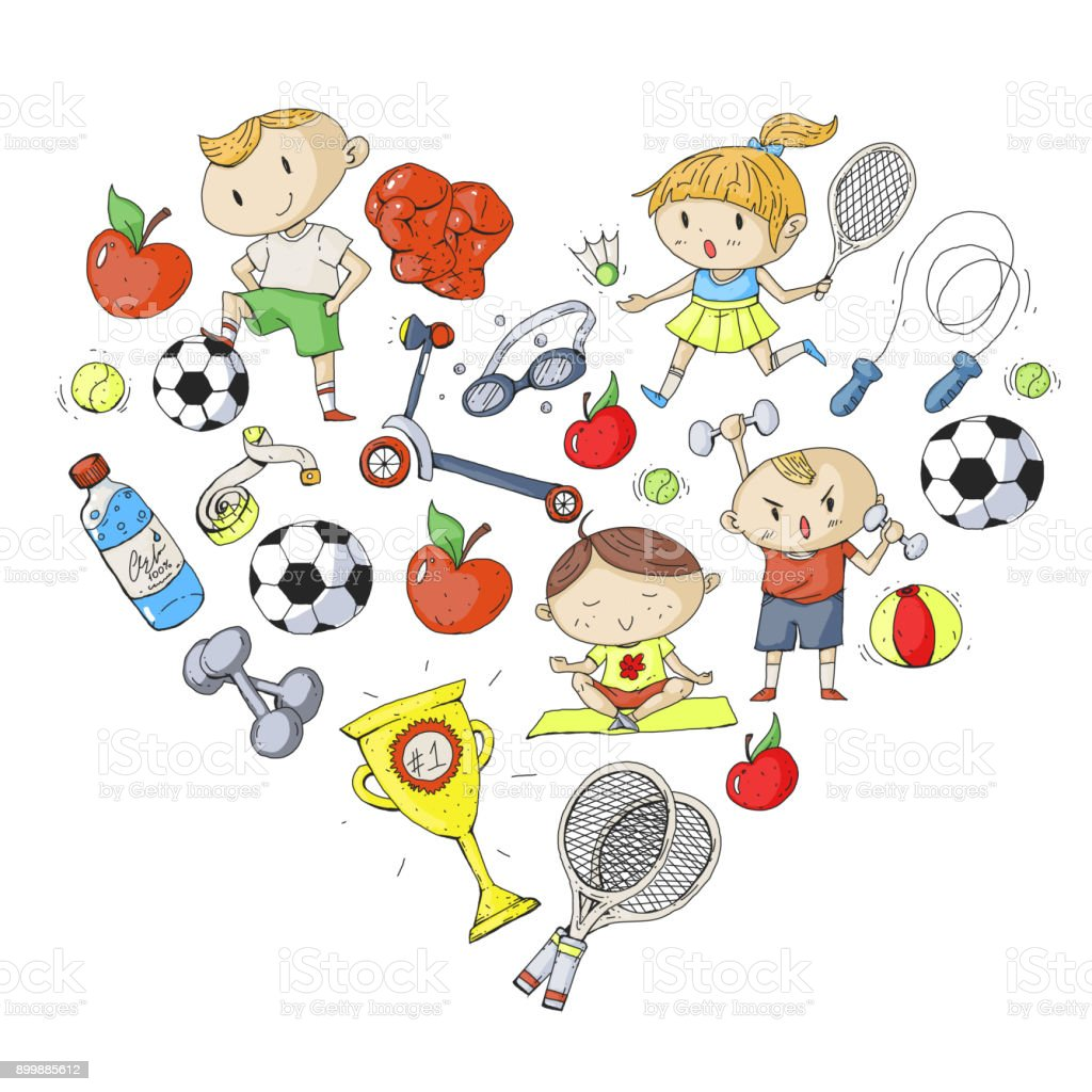 Kinder Sport Kinder Zeichnen Kindergarten Schule Hochschule
