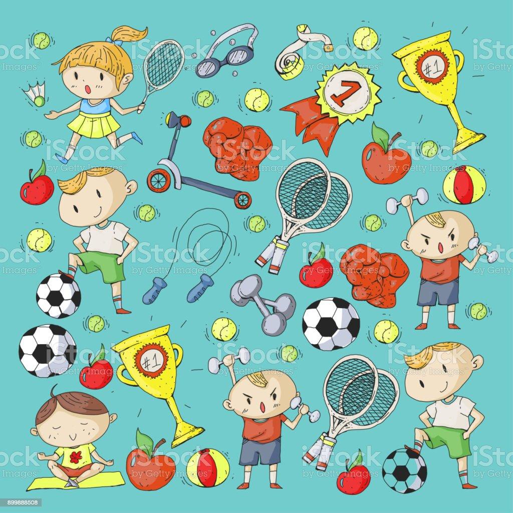 Children Sport Kids Drawing Kindergarten School College Preschool ...