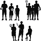 Children standing with sport equipmenthttp://www.twodozendesign.info/i/1.png