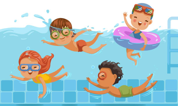 Image result for kids swimming clip art