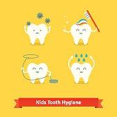 Children teeth care and hygiene