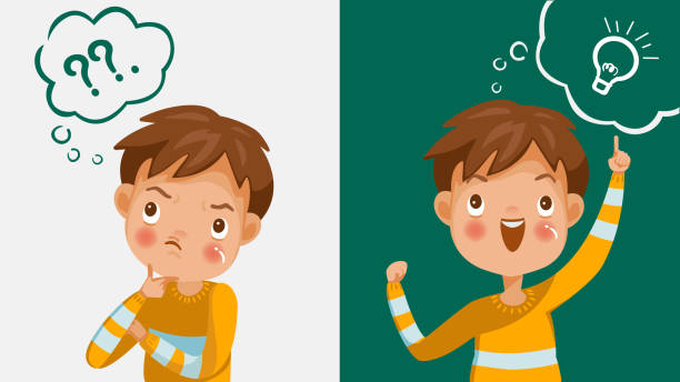 Thinking Face Kid Vector Art Graphics Freevector Com