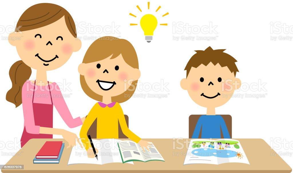 Ilustración De Los Niños Estudio Y Más Vectores Libres De
