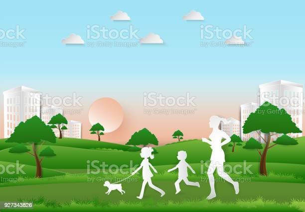 Children to take a dog for a walk and woman jogging paper art paper vector id927343826?b=1&k=6&m=927343826&s=612x612&h=k0pyq8dgl40exajpjtv78cpesd0qra1bqxjw5vihzy8=