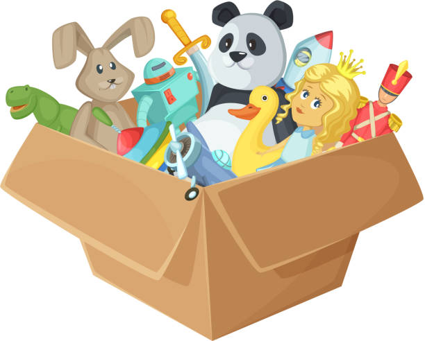 Toy Box Clip Art : Royalty free toy box clip art vector images