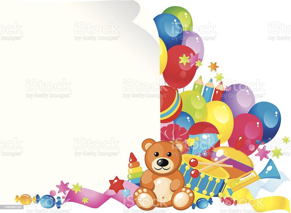 Kinder Spielzeug Stock Vektor Art und mehr Bilder von Blau 148460734 ...