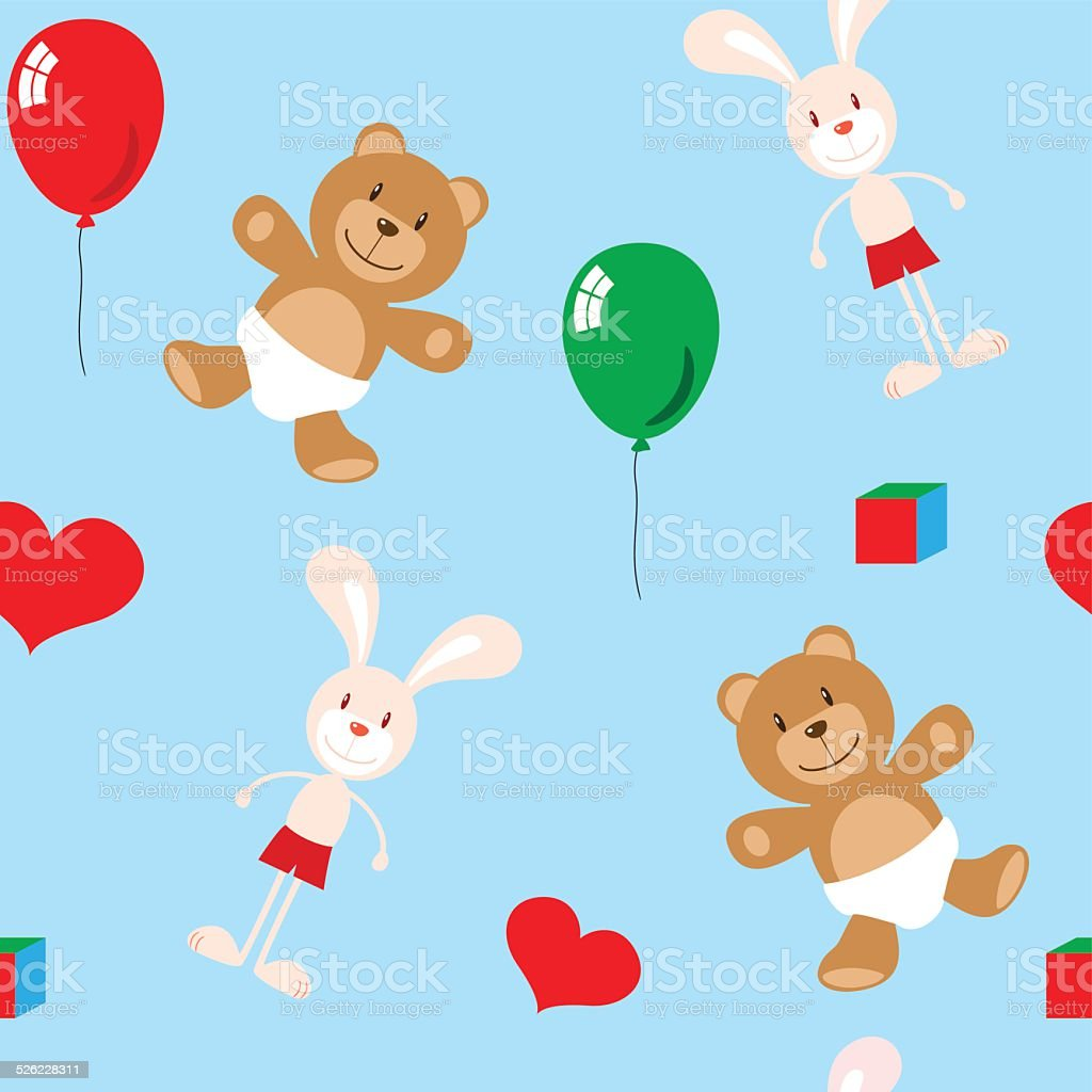 children toys vector art illustration
