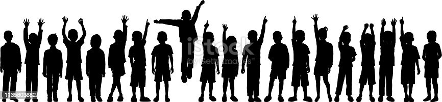 istock Children (Each Child is Complete- Clipping Path Hides the Legs) 1135803682