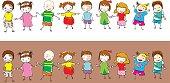 9 Multi-Ethnic children