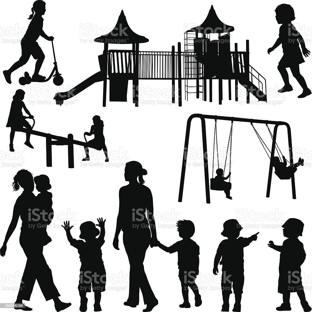 Children royalty-free stock vector art