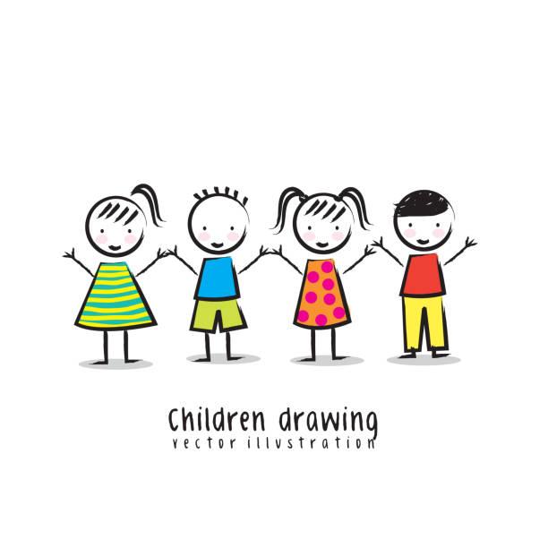 bildbanksillustrationer, clip art samt tecknat material och ikoner med children - förskolebyggnad