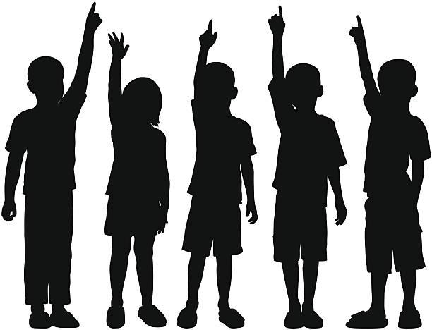 어린이 - 자녀 실루엣 stock illustrations