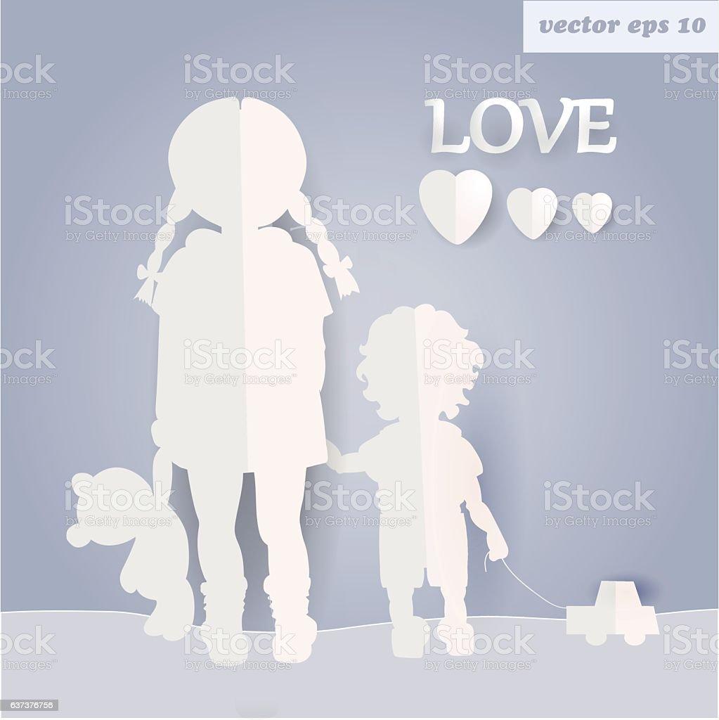 Les enfants  - Illustration vectorielle