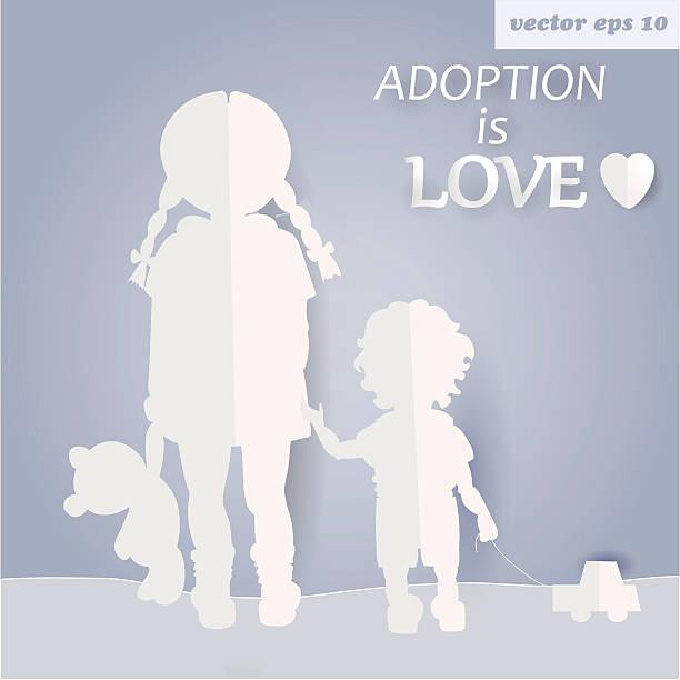 stockillustraties, clipart, cartoons en iconen met children - adoptie