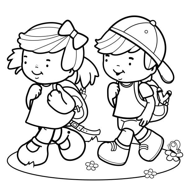 Best Preschool Student Illustrations, Royalty-Free Vector