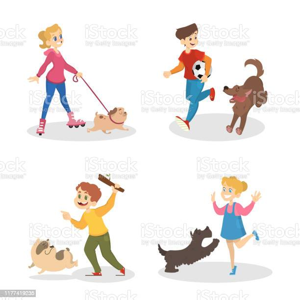 Children walking and playing with their dogs vector id1177419235?b=1&k=6&m=1177419235&s=612x612&h=guz8 nwmk66w5r74b2i8pqzopbdoolykcrrcjshll m=
