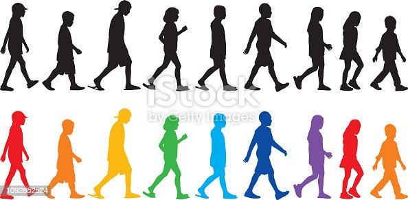 istock Children Walking Silhouettes 1092852524