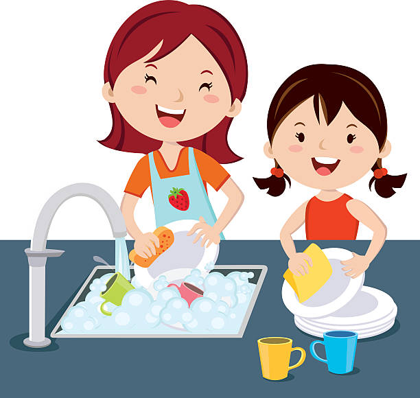 Best Washing Dishes Illustrations, Royalty-Free Vector ...