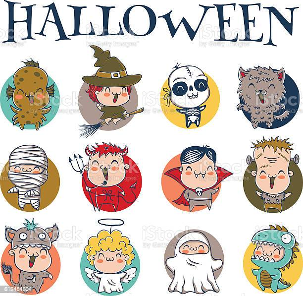 Children with costumes for halloween vector id612484604?b=1&k=6&m=612484604&s=612x612&h=h2syveevjjs1uyoutswke5jww37ppldh qvaykkwa8y=