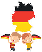 Children with Germany flags
